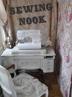 I need that little table for my sewing machine.  It's perfect!