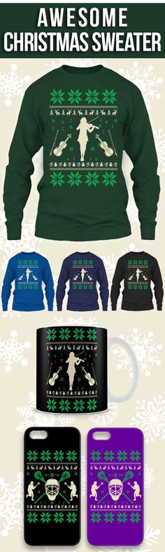 Violin Ugly Christmas Sweater! Click The Image To Buy It Now or Tag Someone You Want To Buy This For. #violin