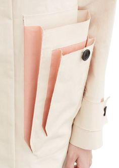 Acne Studios Vallina mac natural / dusty pink Macintosh raincoat