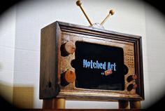 The iPad mini TV Stand retro wooden docking station for iPad mini