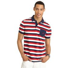 STRIPED DECK POLO SHIRT