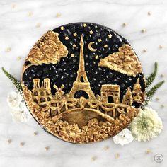 "I baked a Paris ""City Pieline"" blueberry pie : Baking - Banana Cupcake Ideen Food Design, Beautiful Pie Crusts, Pie Crust Designs, Pie Decoration, Pies Art, Impressive Desserts, My Pie, Meringue Pie, No Bake Pies"