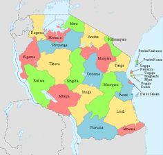 Regiones de Tanzania.