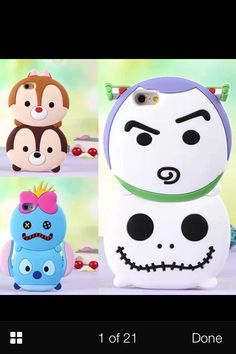 3D Disney Tsum tsum Style Silicone Soft Back Full Buzz light year and jack skellington and stitch and scrump Case Cover for iPhone 5 4 4S 5S 6  samsung | eBay