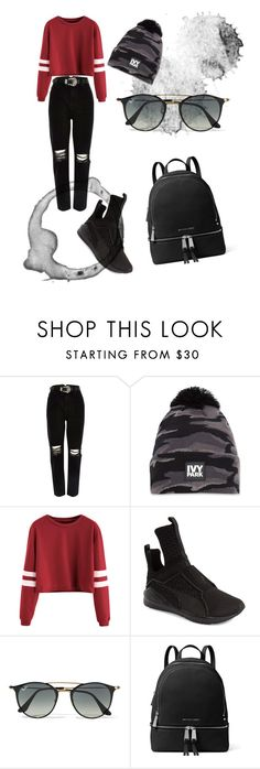 """Untitled #23"" by laayyaann on Polyvore featuring River Island, Ivy Park, Puma, Ray-Ban and MICHAEL Michael Kors"