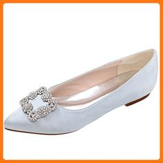 1d329150ba8088 LOSLANDIFEN Women s Elegant Pionted Toe Wedding Ballet Flats Dress Shoes(2046-06chouduan38