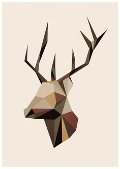 Geometric Deer by OneAlice