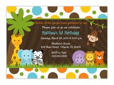 Best Jungle Theme Baby Shower Invitations Templates