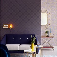 Aries Geometric Wallpaper. Brewster Eijffinger Geonature. http://lelandswallpaper.com