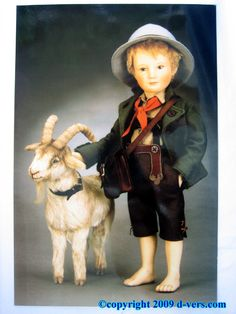 Peter the goat herd doll  This doll looks just like my grandson, Owen!  It's hard to believe someone can get this much detail with felt.