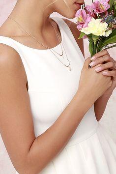 Ivory Dress - Midi Dress - Tulle Dress - White Dress - $79.00