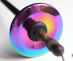 Drop Spindle Top Whorl Rainbow HEMALYKE for Spinning Yarn via Etsy