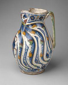 Armorial Jug (boccale)    Date:      1506  Culture:      Italian, Tuscany, Cafaggiolo or Montelupo #TuscanyAgriturismoGiratola