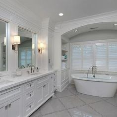 Arched Bathtub Alcove, Transitional, Bathroom, Blue Water Home Builders