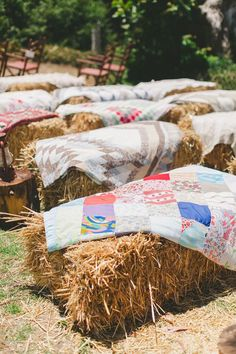 Hay For Seats At Wedding