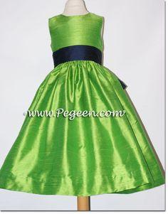Green Flower Girl Dresses | Home » Lime Green Chiffon Flower Girl ...