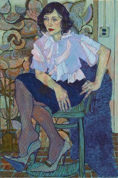 Portrait by Hope Gangloff Portrait Paintings, Portrait Art, Art Paintings, Family Portrait Painting, Figure Painting, Painting & Drawing, Blue Painting, Painting Canvas, Hope Gangloff