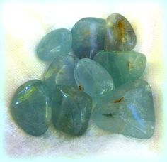 Tumbled Teal Blue Fluorite  The Stone of Clear Sight and Intuition by TheSageGoddess