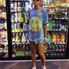 Hippie Outfits, Rave Outfits, Summer Outfits, Girl Outfits, School Outfits, Raves, Camisa Tie Dye, 90s Fashion, Fashion Outfits