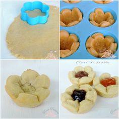 Tutorial: Fiori di pasta frolla. I Fiori di pasta frolla sono una bellissima idea da vedere e gustare. Le vostre tavole si decoreranno a festa per la colazione, la merenda o per ricchi buffet di do...