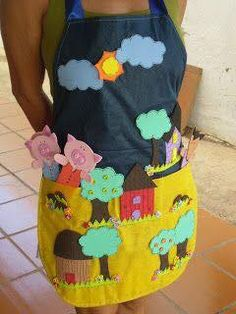 Sewing For Kids, Diy For Kids, Cool Kids, Crafts For Kids, Infant Activities, Activities For Kids, Cute Aprons, Little Pigs, Kids Education