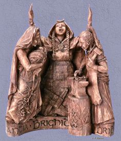 Brigid, Triple goddess: smith, bard, healer