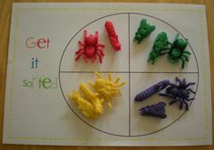 """Simple sorting ideas ("""",) Data and Probability standard: Formulate questions that can be addressed with data and collect, organize and display relevant data to answer them. Preschool Lessons, Preschool Math, Math Classroom, Kindergarten Math, Classroom Activities, Teaching Math, Teaching Ideas, Math 8, Classroom Ideas"""