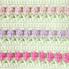 crochet tulips Free pattern!