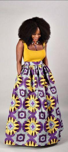 Debbie Maxi Skirt African print skirt. Ankara | Dutch wax | Kente | Kitenge | Dashiki | African print bomber jacket | African fashion | Ankara bomber jacket | African prints | Nigerian style | Ghanaian fashion | Senegal fashion | Kenya fashion | Nigerian fashion | Ankara crop top (affiliate)
