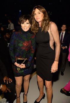 Proud parents: Kris and Caitlyn Jenner attended Kendall's Victoria's Secret catwalk debut on Tuesday night