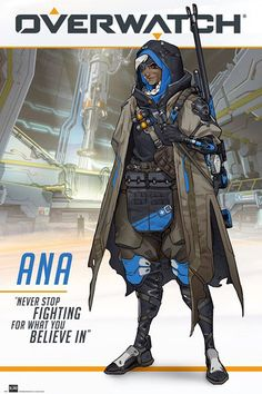 Overwatch - Ana - Plakát, Obraz na zeď Overwatch Angel, Overwatch Posters, Gaming Posters, Empty Wall Spaces, Stop Fighting, Game Character, Movie Tv, Poster Prints, Poster
