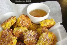 Mia's Domain | Real Food: Corn Fritters