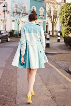 Shiny Thoughts wears Boden Lara Coat and Thelma Heels. March 2015.