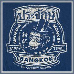 Smoking-Monkey-T-Shirt-Design-The-Hangover-sz-s-xxl-Movie-Bangkok-Thailand-Tee
