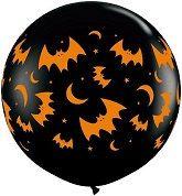 Bats and Moons Balloon Bats Balloon Halloween by ThePartyGnome