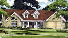 Country House Plan with 1980 Square Feet and 3 Bedrooms from Dream Home Source | House Plan Code DHSW32853