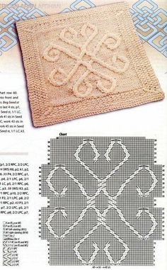 Fantastic Pic aran Knitting Stitches Ideas Knitters realize that at any time you handle a project, you'd better be ready to study some thing new. Cable Knitting, Knitting Charts, Knitting Stitches, Knitting Patterns Free, Knit Patterns, Free Knitting, Stitch Patterns, Knit Pillow, Knitted Blankets