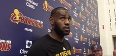 "Athletes far and wide have spoken out to rebuke Donald Trump for saying his lewd comments that he described as nothing more than ""locker room banter.""    So what does the biggest star in the NBA have to say about ""locker room banter""? Let LeBron break..."