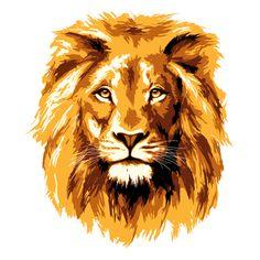 Golden lion vector