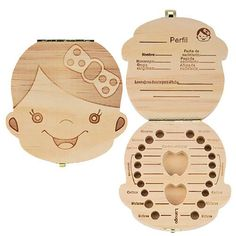 Caja de madera para dientes de leche - Niña http://www.milideaspararegalar.es/producto/caja-madera-dientes-leche-nina/