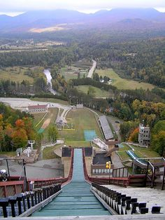 Our son attended the Stratton Freestyle Ski Clinic here.simply thrilling Lake Placid Ski Jump, Adirondack Mountains, Essex, New York