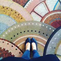 I Love Paris In The Winter When It Drizzles. #ihavethisthingwithfloors#ihavethisthingwithtiles#ihaveathingwithfloors#carrelage#design#fromwhereistand#fwis#igers#instagood#jj#lookyfeets#lookingdown#mosaic#cafebenjamin#floors#pattern#singaporegypsy#selfeetshoefie#tiles#tileaddiction#viewfromthetop#chanelshoes by singaporegypsy