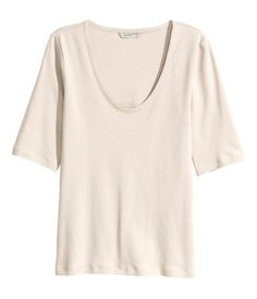 Jerseyshirt   Hellbeige   Damen   H&M AT