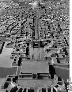 """Model of the """"World Capital City Germania,"""" Built According to Plans by Albert Speer (1939)"""