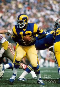 Los Angeles Rams quarterback James Harris (12) in action against the San Francisco 49ers at the Coliseum. The Rams defeated the 49ers 37-14.