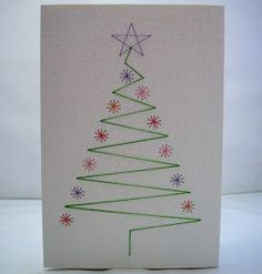 Easy beautiful Christmas cards yourself crafts drawing Homemade Christmas Cards, Homemade Cards, Handmade Christmas, Christmas Diy, Paper Cards, Diy Cards, Quilling Christmas, Beautiful Christmas Cards, Creative Cards