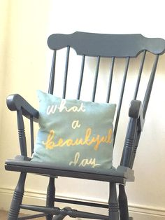 Made to order-Vintage hand-painted grey rocking chair nursing