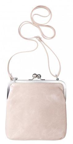 kleine Handtasche Brautasche Ledertasche Disco Tasche  XS Bügeltasche rosa weiß mit Riemchen #Tasche