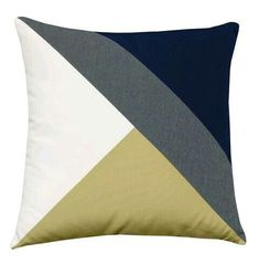 Make a style statement in your home with the Zulu Clipped pillow. This pillow features contrasting swaths of fabric turned out in a rich color combination. Made with Perennial's outdoor fabrics for use both indoors and out. Diy Pillow Covers, Diy Pillows, Decorative Pillows, Cushions, Throw Pillows, Cushion Cover Designs, Pillow Cover Design, Patchwork Cushion, Fabric Scraps