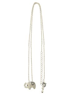 Elliot Pendant on Chain -  INR 1,499 -  This silver metallic pendant in shape of an elephant is paved with micro crystals and held on a delicate silver metallic chain. Its perfect for everyday wear and looks great layered wih other necklaces. #necklace #trendy #buy #locolatte